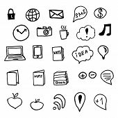 Hand drawn vector illustration icons