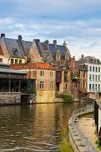 Canal And Old Buildings, Ghent