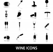 pic of wine-press  - black wine alcohol drink simple icons eps10 - JPG