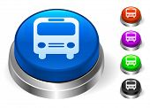 Bus Icons on Round Button Collection