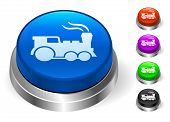 Locomotive Icons on Round Button Collection