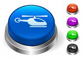 Helicopter Icons on Round Button Collection