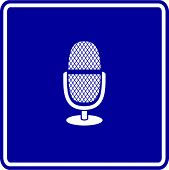 microphone with stand sign