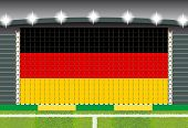 stadium transform cheering into Germany flag