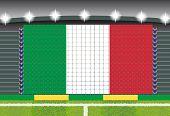 stadium transform cheering into Italy flag