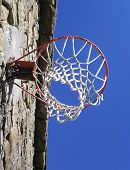 Basketball Hoop on an old wall