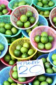 lime in basket on thai markets