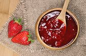 Strawberry jam or marmalade