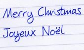 Writing Merry Christmas In French, Joyeux Noel.