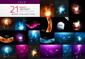 picture of asset  - Set of abstract dark magic backgrounds - JPG
