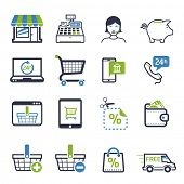 Shopping icons set 01