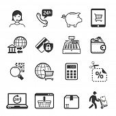 Shopping icons set 04 // BW