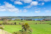 Blagdon Lake Somerset in Chew Valley at the edge of the Mendip Hills south of Bristol