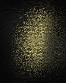 Abstract Black Background With Gold Scuffed