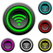 Wi-fi Icon Buttons Set