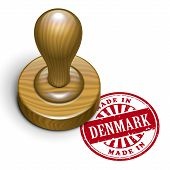 Made In Denmark Grunge Rubber Stamp