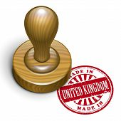 Made In United Kingdom Grunge Rubber Stamp