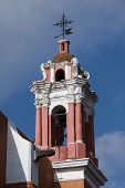 Pink Church in Puebla, Mexico