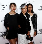 NEW YORK-APR 16: (L-R) Anna Diaz, Martha Diaz and Amber Diaz attend the world premiere of