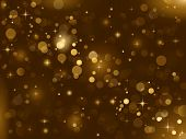 stock photo of gold glitter  - Magic sparkle - JPG
