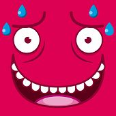 foto of transpiration  - A Vector Cute Cartoon Red Sweaty Face - JPG