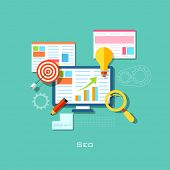 illustration of SEO concept in flat style
