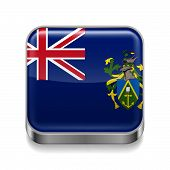 Metal  icon of Pitcairn Islands