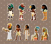 picture of king cobra  - cartoon pharaoh stickers - JPG