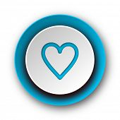 heart blue modern web icon on white background