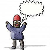terrified man cartoon