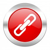 link red circle chrome web icon isolated