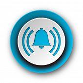alarm blue modern web icon on white background