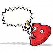 pic of love hurts  - love struck heart cartoon character - JPG