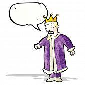 cartoon king with speech bubble