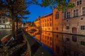 Bruges on an autumn evening