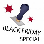 A Rubber Stamp With Word Black Friday Special