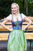 Blonde Woman In Dirndl