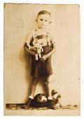 Vintage Photo Of A Little Boy
