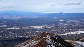 Pikes Peak National Park, Colorado In The Winter