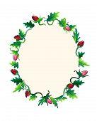 Holidays rose frame