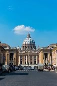 Rome - MARCH 21: St. Peter Cathedral on March 21 in Rome, Italy. St. Peter Cathedral is a popular tourist destinations