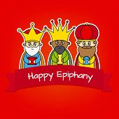 image of three kings  - Three Kings card - JPG
