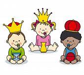 three kings vector card