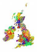 Great Britain Watercolor Map