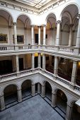 ZAGREB, CROATIA - SEPTEMBER 23: Croatian Academy of Sciences and Arts in Zagreb, on September 23, 2014.