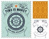 Retro stamp design