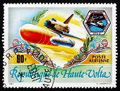 Postage Stamp Burkina Faso 1983 Space Shuttle Challenger