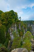Rocks around Bastei bridge.