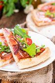 Homemade Ham Pizza (slices)