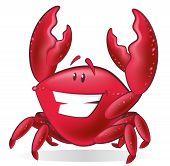 Cute Cartoon Crab Illustration.